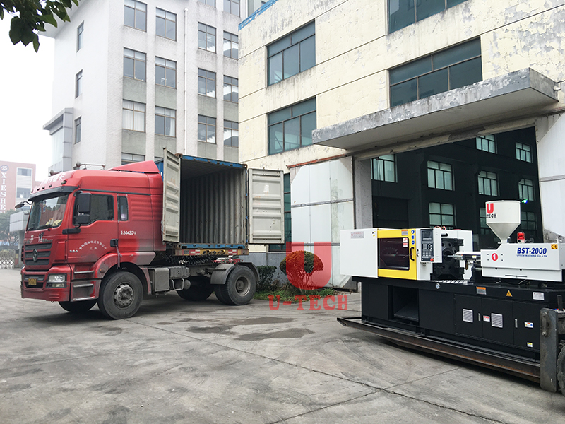 Injection moulding machine send to Australia