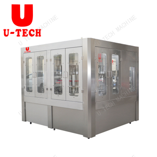 Automatic Plastic Bottle Lichi Juice Aluminum Foil Filling Bottling Sealing Machine Price Plant