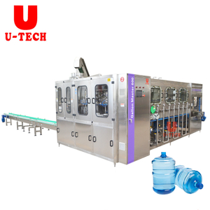 2019 Automatic 100-2000 Barrel 5 Gallon Pure Water Washing Filling Capping Machine