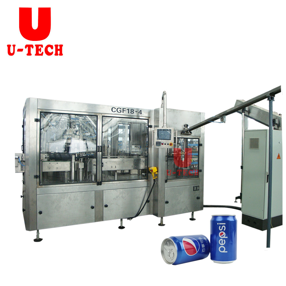 Small Aluminum Beer Beverage Tin Can Filling Seamer Machine